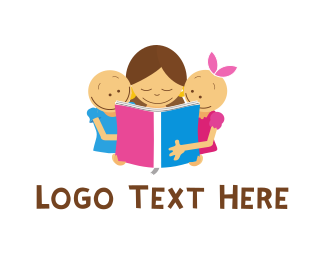 Boy And Girl - Children Tales logo design