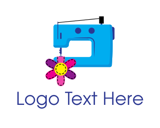 Fashion Designer - Sewing Machine logo design