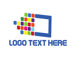 Pixel - Digital Colors logo design