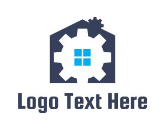 Mechanical - Gear House logo design