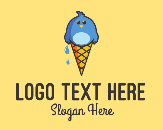 Gelato - Ice Cream Bird  logo design