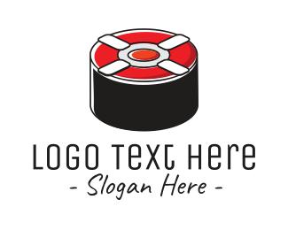 Asian - Sushi Lifesaver logo design