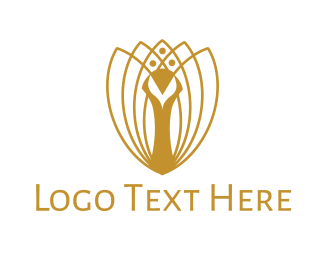 Luxurious Peacock Logo