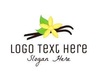 Vanilla - Vanilla Flower logo design