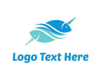 Unicorn - Unicorn Fish logo design