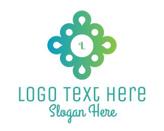 Pendant - Gradient Flower logo design