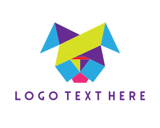 Colorful - Colorful Geometric Dog logo design