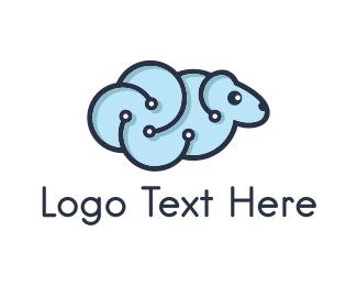 Sheep - Data Sheep logo design