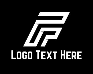 Letter F - White Letter F logo design