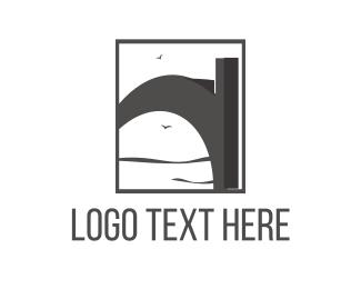 Structure - Grey Bridge logo design