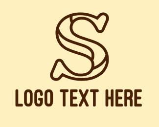 Brand - Brown S Outline logo design