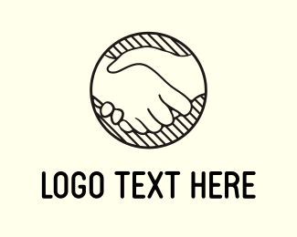 Friend - Handshake Circle logo design