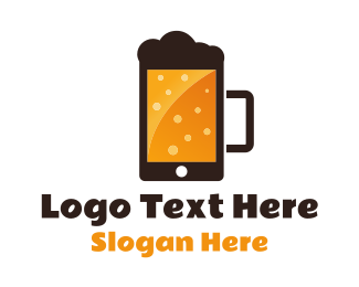 Phone - Beer Application logo design