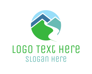Sem-de - Mountain Valley Circle logo design
