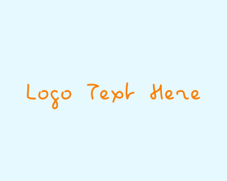 Toddler - Kid Handwriting logo design