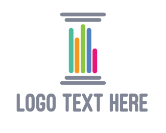 Early Learning Center - Colorful Pillar logo design