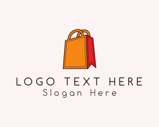 Mall - Orange Bag logo design