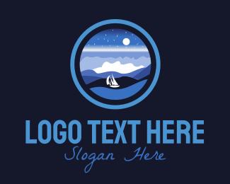 Transportation - Ocean Night logo design