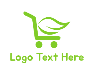 Supermarket - Organic Cart logo design
