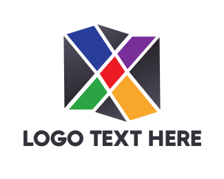 Corporation - Mosaic X Box logo design