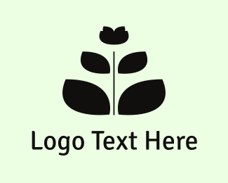Lily - Black Flower logo design