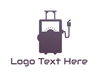 Gas Station - Travel Petrol logo design