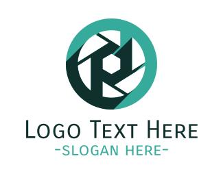 Photographer - Mint Camera Shutter logo design