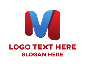 Folded - M & V logo design