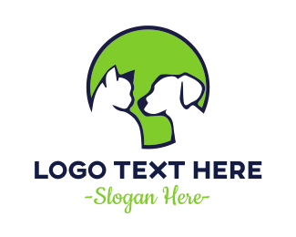 Feline - Pet Green Circle logo design