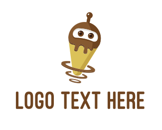 Future - Robot Ice Cream logo design