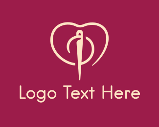 Romantic - Needle Love logo design