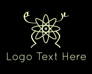 Mathematics - Atom Man logo design