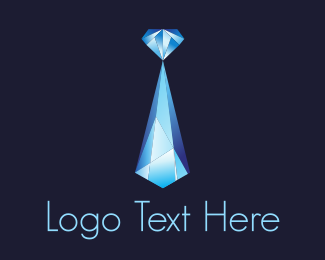 Jewellery - Blue Crystal Diamond  logo design