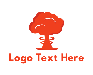 Radioactive - Mushroom Cloud logo design