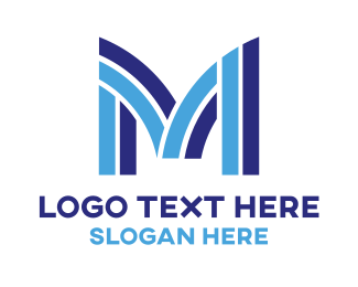 Corporation - Stripe M Tech logo design