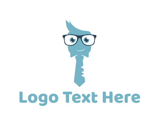 Employee - Cute Nerd  logo design