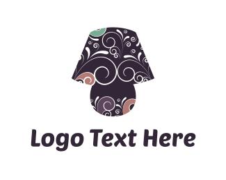 Classic - Lamp & Flowers logo design