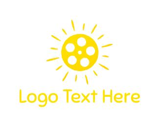 Reel - Sun Reel logo design