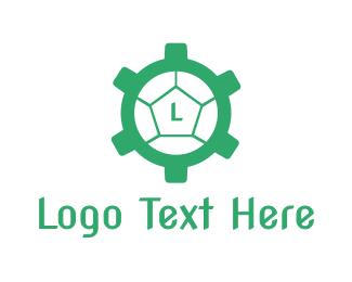 Shell - Cog Turtle  logo design