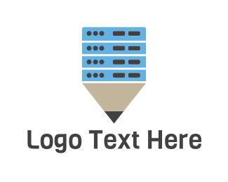 University - Electronic Pen logo design