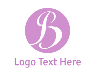 Baby - Purple B logo design