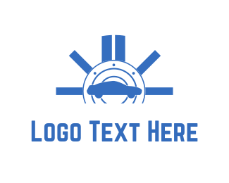 Workshop - Blue Car logo design