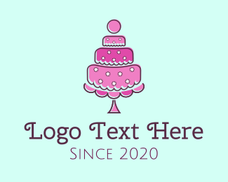 Birthday - Pink Cake logo design