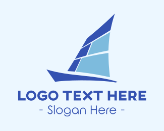 Sailing - Blue Yacht logo design