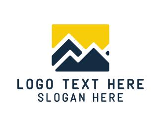 Supply - Yellow Blue Mountain logo design
