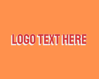 """Uppercase Red Font"" by BrandCrowd"