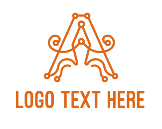 Crochet - Cursive A Pen logo design