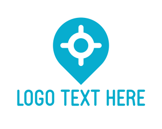 Position - Location Pin logo design