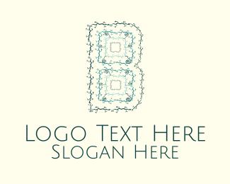 Swirly - Floral Letter B logo design