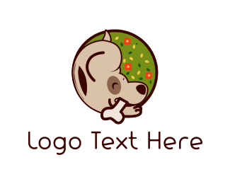 Puppy School - Cute Brown Dog logo design